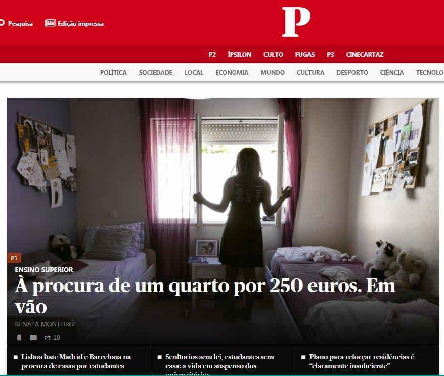 """Na manchete do Jornal de Notícias de 19 de agosto de 2018, onde se lê,  """"Câmara reconhece rostos e trava ... 33be4e1df4"""