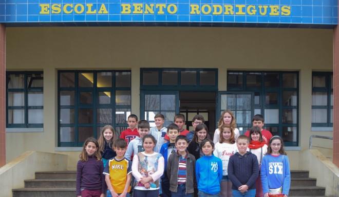 Alunos do 5.º C, da Escola Básica e Secundária Bento Rodrigues da Ilha de Santa Maria, Açores, Portugal.